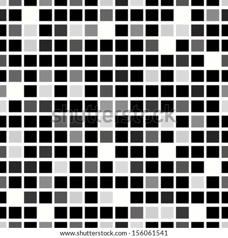 Seamless abstract geometric pattern. The squares of dark and gray shades on a white background. Vector.