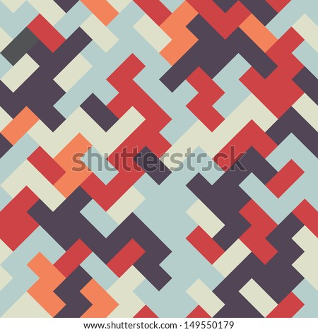 Seamless abstract geometric vector pattern  - stock vector
