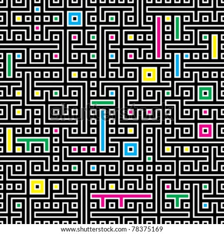 Seamless abstract geometric vector pattern for continuous replicate - stock vector