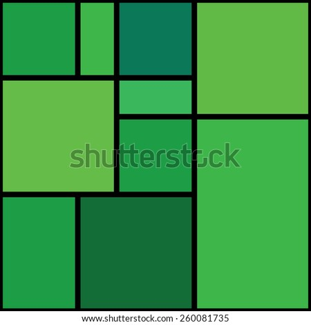 Seamless abstract green geometrical pattern. - stock vector
