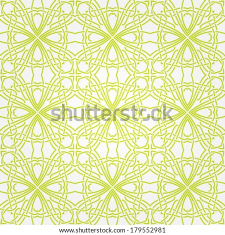 Seamless abstract green pattern with lines. Vector illustration