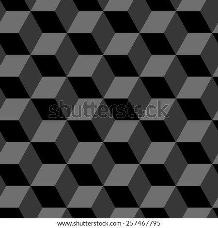 Seamless abstract grey geometric pattern - stock vector