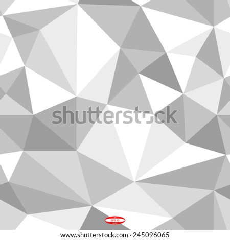 seamless abstract grey white pattern gray texture abstract grey line on white background with tetrahedron vector - stock vector