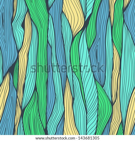 Seamless abstract hand drawn horizontal background with vertical lines - stock vector