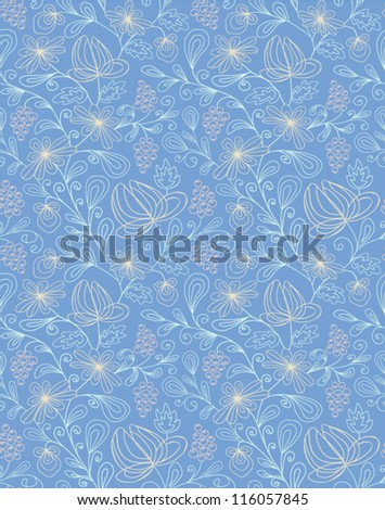 Seamless abstract hand-drawn pattern. Seamless pattern can be used for wallpaper, pattern fills, web page background,surface textures. Abstract seamless floral background