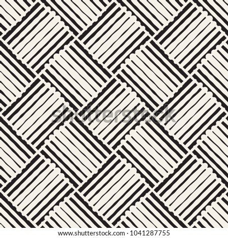 Seamless abstract hand drawn pattern. Vector freehand lines background texture. Ink brush strokes simple geometric design.