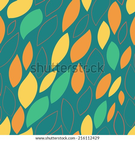 Seamless abstract hand-drawn pattern. Vector illustration. Seamless texture.