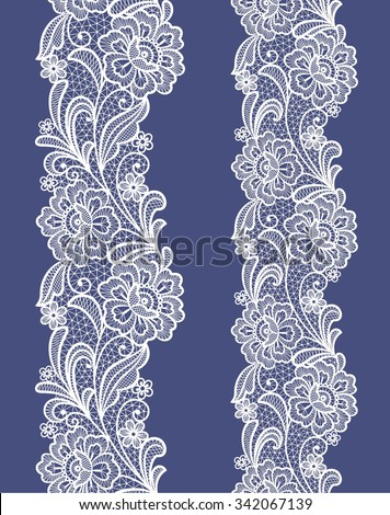seamless  abstract lace  floral   background - stock vector