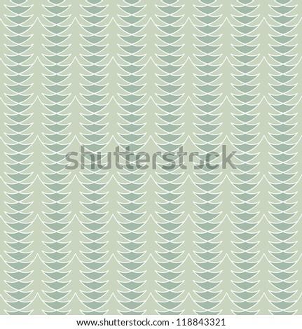 Seamless abstract light blue christmas tree pattern. Vector illustration - stock vector