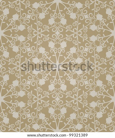 Seamless abstract light brown pattern with gradient. Vector illustration - stock vector