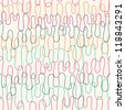 Seamless abstract light pattern with color curly lines. Vector illustration - stock photo