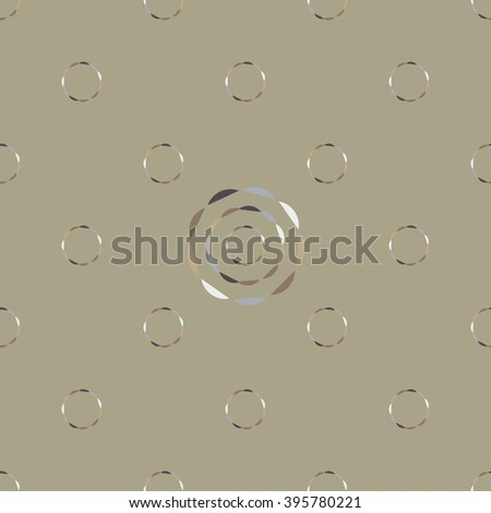 Seamless abstract modern pattern created from repetitive circles - stock vector