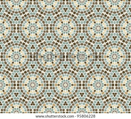 seamless abstract mosaic pattern background - stock vector