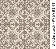 Seamless abstract pattern. Brown and beige colors. Vector illustration - stock vector