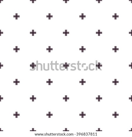 Seamless abstract pattern created from repetition of plus cross symbols - stock vector