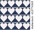 Seamless abstract pattern created from repetitive hearts  - stock vector