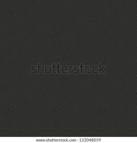 Seamless abstract pattern. Dark twisted lines. Vector illustration - stock vector