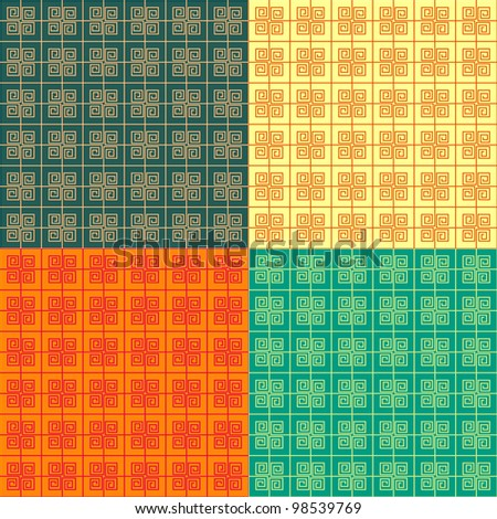 Seamless Abstract Pattern Set. Vector Backgrounds - stock vector
