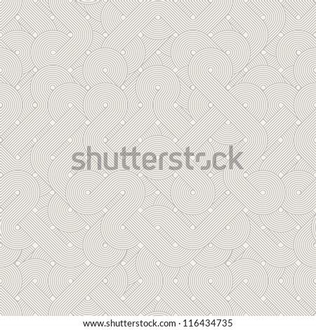 Seamless abstract pattern. Twisted lines. Vector illustration - stock vector