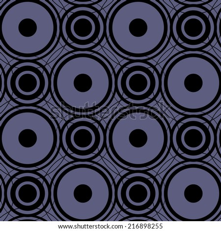 Seamless abstract pattern with circles on a blue background