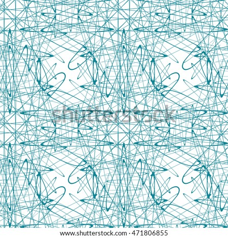 Seamless abstract pattern with guilloche ornament isolated on white (transparent) background. Vector illustration eps