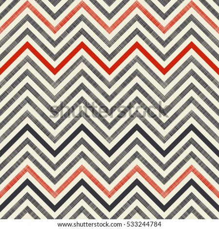 Seamless Abstract Pattern With Zigzag Stripes On Texture Background In Retro Colors Endless Can