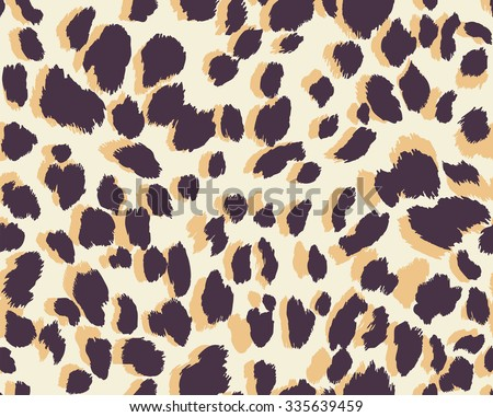 Seamless abstract print with leopard skin spots. Vector illustration.