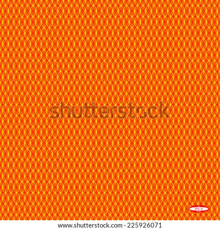 seamless abstract red pattern orange texture with yellow ellipse on red background vector - stock vector