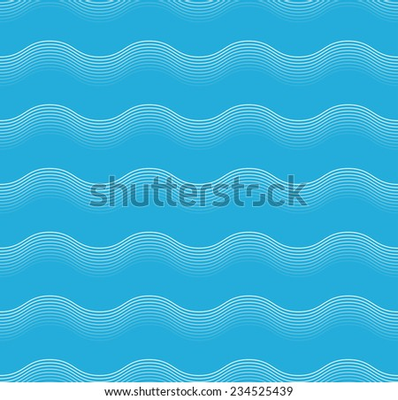 seamless abstract sea wave pattern of parallel lines