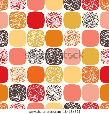seamless abstract square dotted pattern - stock vector