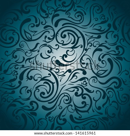 Seamless abstract swirls pattern