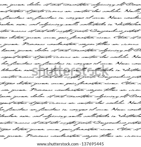 Seamless abstract text pattern. Vector eps 10 illustration. - stock vector