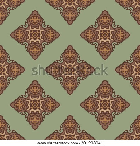 Seamless abstract tiled pattern vector for fabric