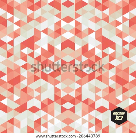 Seamless abstract triangle pattern. Vector background. Geometric texture. Eps 10. - stock vector