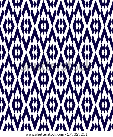Seamless abstract vector geometric ethnic pattern background - stock vector