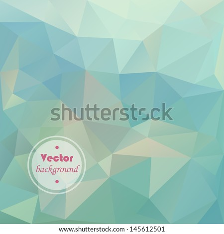 Seamless abstract vector pattern. Geometric triangle mosaic background - stock vector