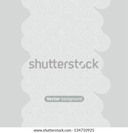 Seamless abstract vertical border. Vector illustration - stock vector