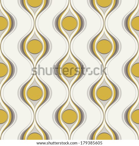 seamless abstract wallpaper pattern - stock vector