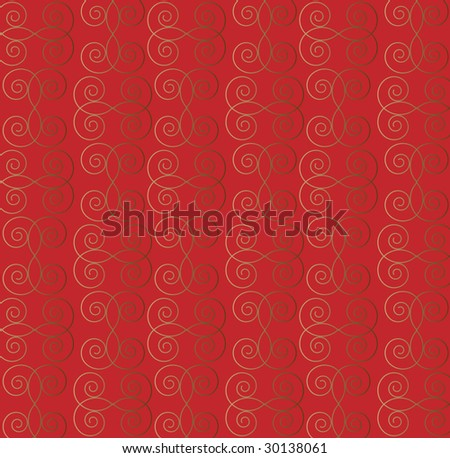 Seamless abstract wallpaper pattern on red background - vector illustration. - stock vector