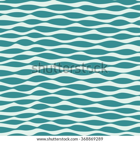 Seamless abstract waves pattern. Vector illustration - stock vector