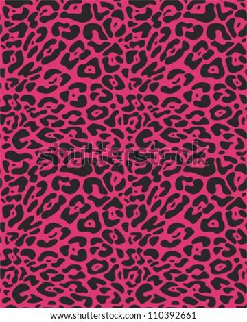 Seamless animal fur pattern - stock vector