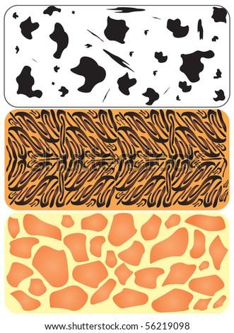 seamless animal patterns - stock vector