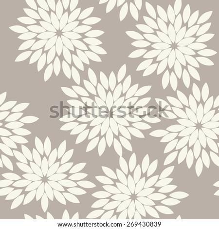 Seamless anthracite gray vintage japanese floral kimono tenugui textile pattern vector