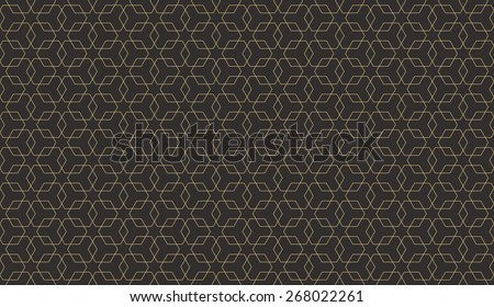 Seamless antique palette overlapping hexagons pattern vector - stock vector