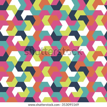 Seamless arrow geometric pattern. Seamless abstract triangle geometrical background. Infinity geometric pattern. Vector illustration. - stock vector
