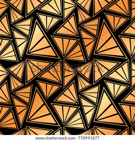Seamless artdeco ornamental pattern golden gradient stock vector seamless art deco ornamental pattern with golden gradient template for design vector illustration toneelgroepblik Gallery