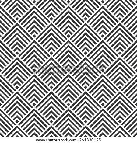 Seamless art deco square chevrons pattern vector - stock vector
