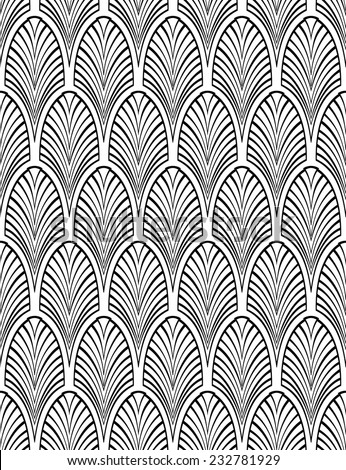 Seamless Art-Deco Vintage Pattern - Illustration EPS-10 - stock vector
