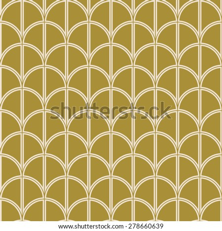 seamless art deco wave pattern. each detail in separate layer. - stock vector