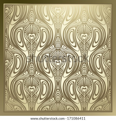 Seamless Art Nouveau - stock vector